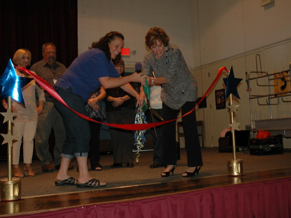 Ribbon Cutting for Renovations 2013-2014